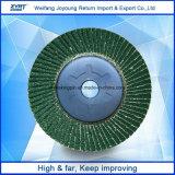 Disco de la solapa del óxido de circonio con el forro plástico que pule para el metal