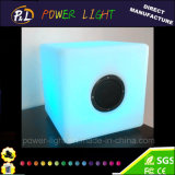 Control remoto de color RGB color recargable LED cubo Bluetooth altavoz