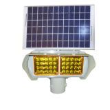 Blinkendes Licht-Solarverkehrszeichen, das hellbernsteinfarbige LED warnt