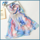 女性のスカーフのジョーゼットの実質の絹の覆いの日焼け止めの女性絹のスカーフ