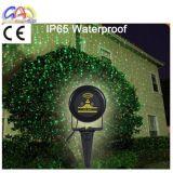 Proyector del laser del césped de la Navidad de Red&Green del proyector del paisaje del laser de Navidad