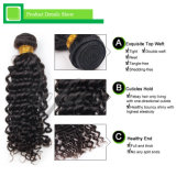 Свяжите выдвижение тесьмой человеческих волос Remy волос естественное черное