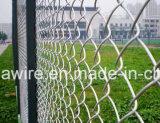 Cerca protegida de la conexión de cadena de los productos para el estadio de béisbol