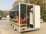 Le modèle neuf peut être chariot mobile moderne personnalisé de nourriture de logo
