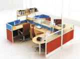 4 Seater Office Partition Staff Desk Desk Call Center Workstation (HF-YTQ010)