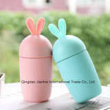 Cute Cartoon Carrot Glass Water Mug with Silicone Protective Cover
