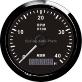 85mm Tachometer RPM Gauge con Hour Meter 0-4000rpm con Backlight