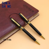 古典的なデザインレーザーEngarveのペンの黒の金属球のペン