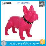 Figurines di ceramica di un pezzo del bulldog francese di Schleich del Figurine dell'accumulazione