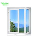 Prix d'usine double fenêtre Galzed UPVC Casement