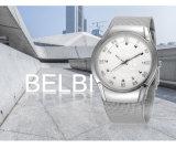 Montre imperméable à l'eau de bateau à voiles de montre de quartz d'affaires d'hommes de Belbi