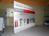 Support d'affichage pop-up en alliage d'aluminium droit 10FT avec bannière d'impression