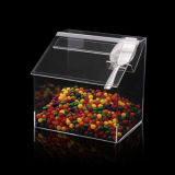 Boîte de présentation acrylique de sucrerie d'espace libre superbe de qualité