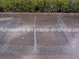 Engranzamento de fio de Gabion para a construção da parede de retenção