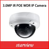 3MP WDR Dome Vandal-Proof Security CCTV Network Caméra IP avec audio et alarme