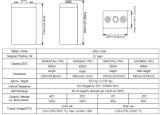 Opzv Série 2V630ah da bateria com as placas tubulares para a tevê Appliation de Telecome/UPS/Railway/Security/Medical/Alarm/Cable