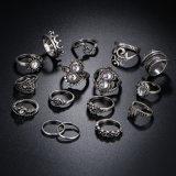 16PCS Ring van de Kroon van het Hart van de Bloem van het Blad van de Vinger van het gewricht de Opalen
