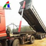 35cbm Caixa de aço de 2 eixos de caminhões de carga hidráulica semi reboque de descarga