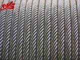 Ungalvanized Seil-Stahldrahtseil 6X29fi+Iwrc für das Hochziehen