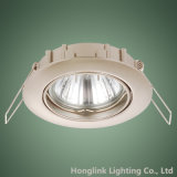 Fabricante Atacado GU10 Halogen / LED Latão Recessed Ceiling Light Holder Downlight