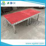 Регулируемый передвижной складывая этап с ковром