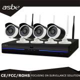4CH Weather Bullet CCTV Câmara de segurança de rede WiFi Kit NVR