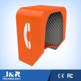 Cabine de telefone acústica da cabine de telefone público, capa à prova de intempéries do telefone