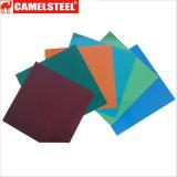 Tôle d'acier enduite galvanisée enduite d'une première couche de peinture de couleur avec la surface spéciale