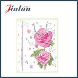Dia das Mães - Marfim Paper Glitter Flowers Shopping Gift Paper Bag