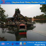 Kettenwannen-Goldförderung-Bagger