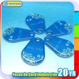 Tag chave de cristal clássico do fob da identificação 13.56MHz MIFARE 1k RFID da porta