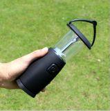 Indicatore luminoso esterno solare di campeggio della lanterna ricaricabile luminosa chiara dell'ABS del LED