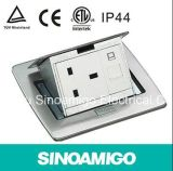Aço inoxidável Pop-up Tipo IP 44 Waterproof Floor Outlet Box com 10A Universal Sockets