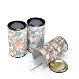 상한 금속 주석 차 포장 상자를 인쇄하는 꽃 패턴
