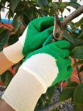 Перчатки деятельности/безопасности отделки Knit латекса 3/4 покрынные развевали запястьем руки, котор