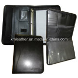 Kundenspezifisches Business Leather Document Folder mit Metal Ring