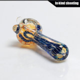 Neuer Glashandrohr-Löffel-Großverkauf-Huka-Tabak-Glaspfeife
