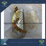 Etiqueta engomada evidente del pisón del panal del color del oro