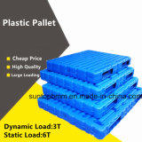 Directement en usine des ventes en gros coup de PEHD Heavy Duty Bac en plastique Palette creux en plastique double face