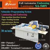 Casa de impresión industrial Automático 30m/min A2 A3 A4, el tamaño del papel repujado máquina laminadora laminadora