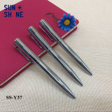 De beste Verkopende Vlotte Balpen van het Metaal van de Luxe van de Pen van het Metaal Zilveren