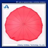 バレンタインの結婚式および写真の支柱のための永久に愛パラソルの赤いハート形の女の子の傘