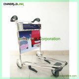空港トロリーカートの乗客の手荷物のカートの荷物のトロリーカート
