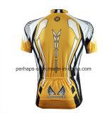 Sublimação personalizada Print Jersey de ciclismo com Zipper Placket