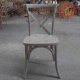 庭のスタック可能カシのブナの森のブドウ園の十字の背部Dinningの椅子