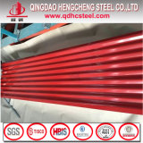 Prix galvanisé de toiture ridé par PPGI en métal de tôle d'acier