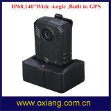 GPS 32gの警察のカメラの広角の140程度IP67の警察身につけられるボディカメラで構築される