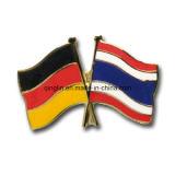 Изготовленный на заказ мягкие Pin отворотом флага креста плакировкой золота Eamel/значок (QL-Hz-0006)