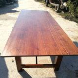 Tableau de banquet se pliant de ferme en bois solide de couleur de Brown
