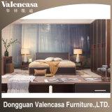 Mobilia moderna del salone dell'hotel della camera da letto del cuoio domestico di legno solido